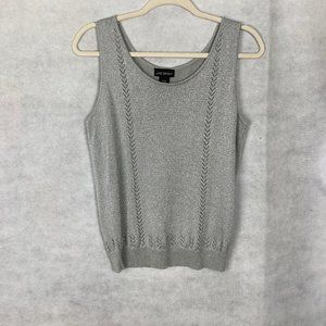 Lane Bryant Silver Metallic Tank Top